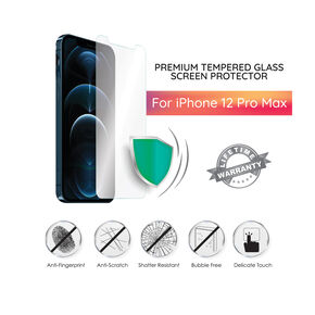 Premium Tempered Glass Screen Protector - Fits iPhone 12 Pro Max,