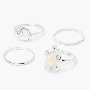 Sterling Silver Enamel Teardrop Stud Earrings - Black,