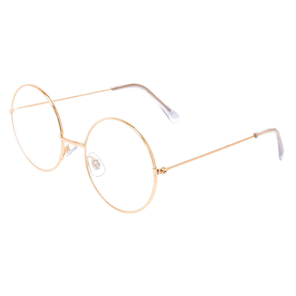 Round Gold Frame Clear Eye Glasses
