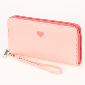 Pochette poignet cœur simple - Rose,