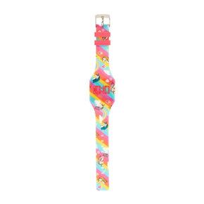 Unicorn & Rainbow Print LED Watch,