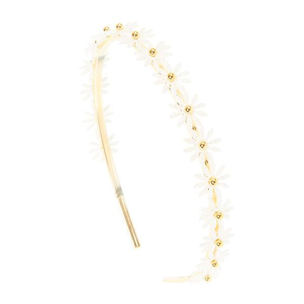 Claire's - glitter daisy headband - 1