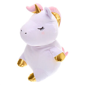 "Claire's Club 16"" Unicorn Soft Toy - White,"