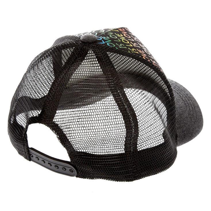 Love is Love Black Trucker Hat,