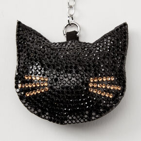 Bling Cat Keychain - Black,