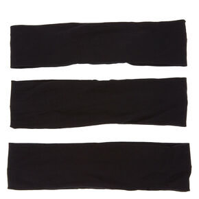 Solid Headwraps - Black, 3 Pack,
