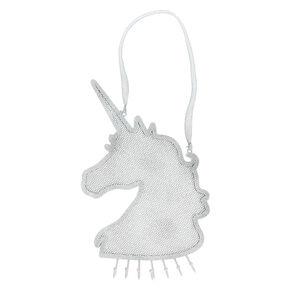 e040bcd71de Glitter Hanging Unicorn Jewelry Holder - Silver