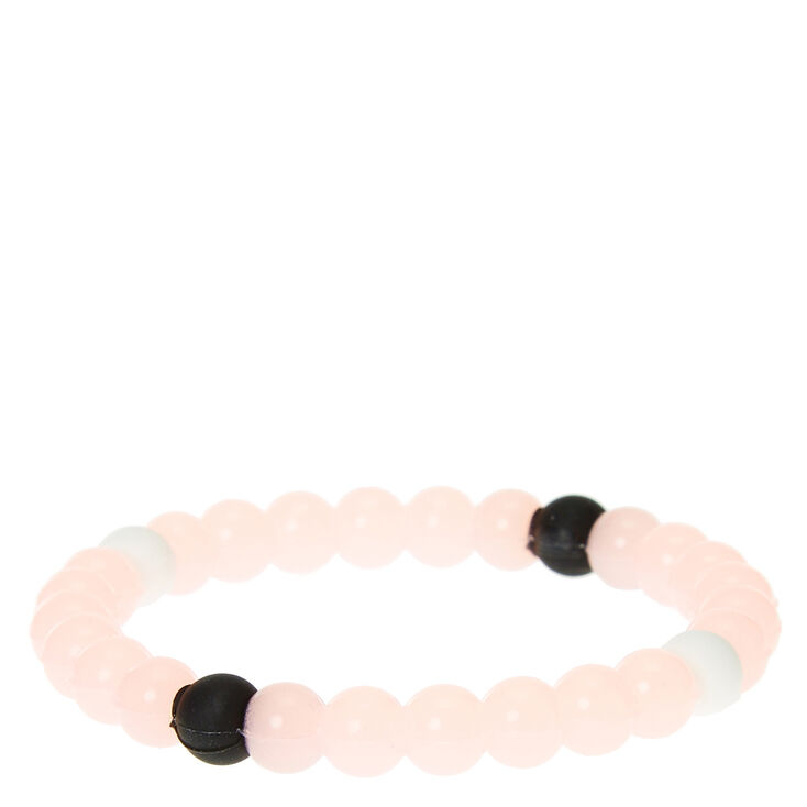 Glow In The Dark Fortune Stretch Bracelet - Pink,