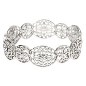 Silver Filigree Stretch Bracelet,