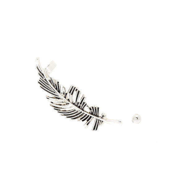 Claire's - feather mismatched crawler earring set - 1