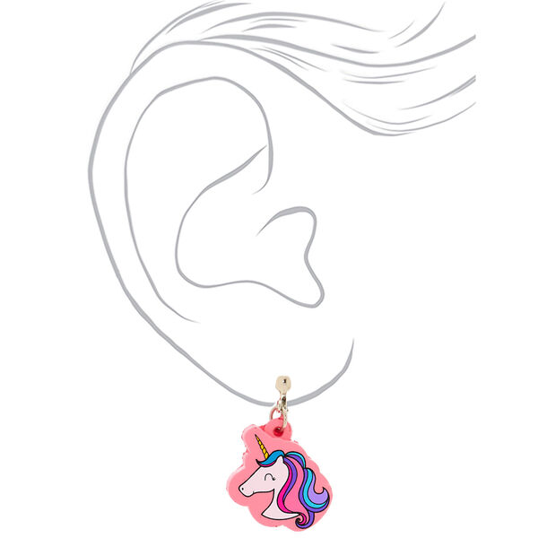 "Claire's - 1"" miss glitter squish clip on earrings - 2"
