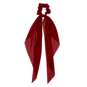 Small Hair Scrunchie Scarf - Burgundy,