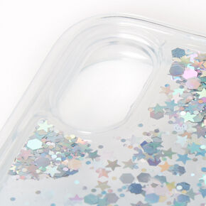 Blue Glitter Star Liquid Fill Phone Case - Fits iPhone XR,