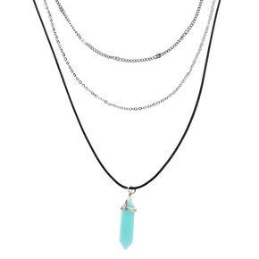 Healing Stone Multi Strand Necklace - Turquoise,