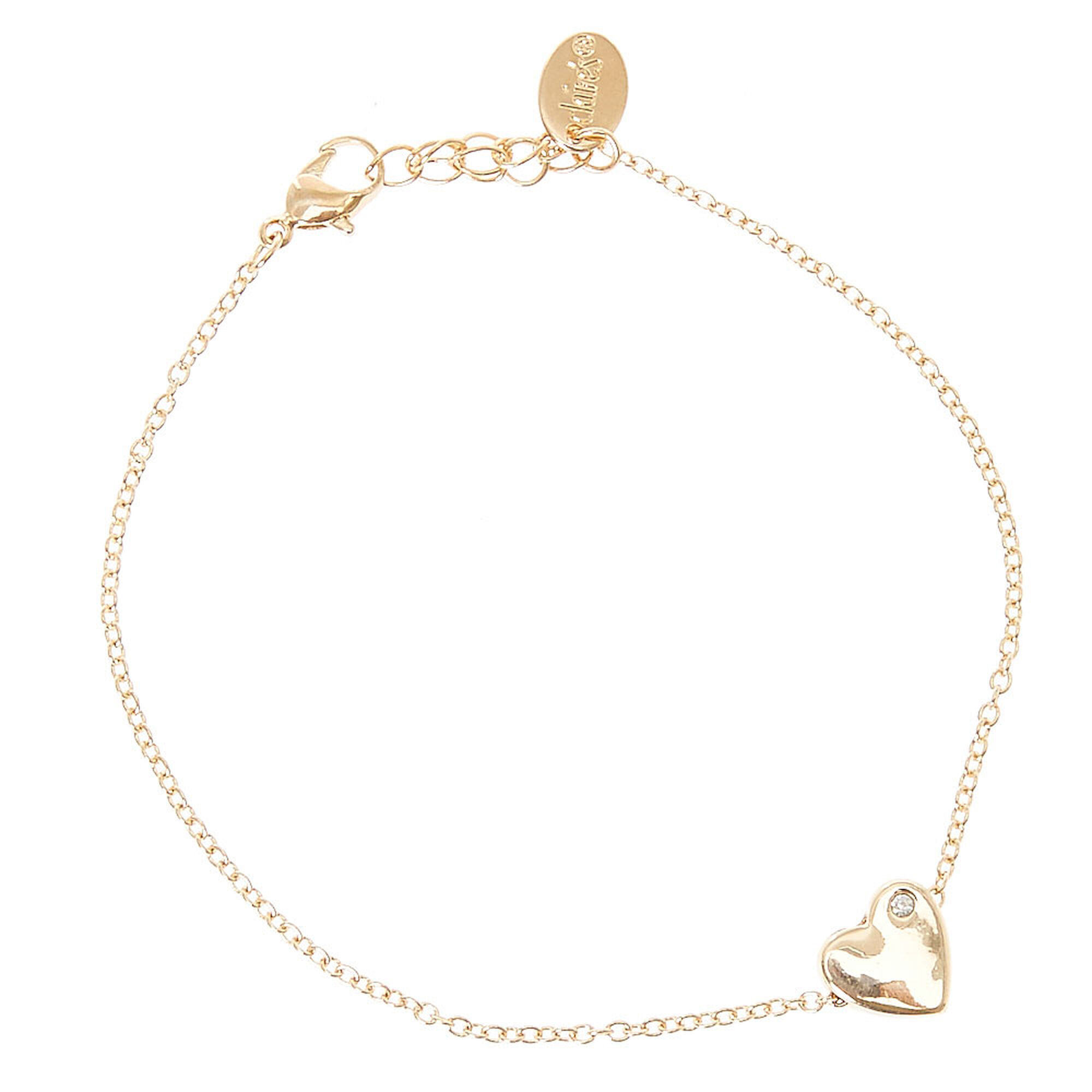 jewelry product ankle today free anklet heart gold black watches shipping bracelet hills overstock