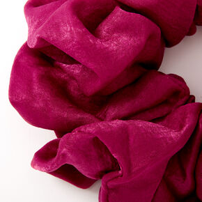 Giant Satin Hair Scrunchie - Berry,
