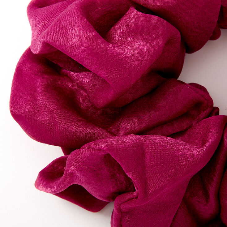 Giant Satin Hair Scrunchie - Berry,
