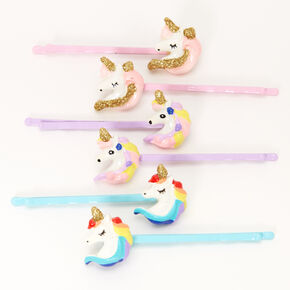 Claire's Club Pastel Unicorn Hair Pins - 6 Pack,