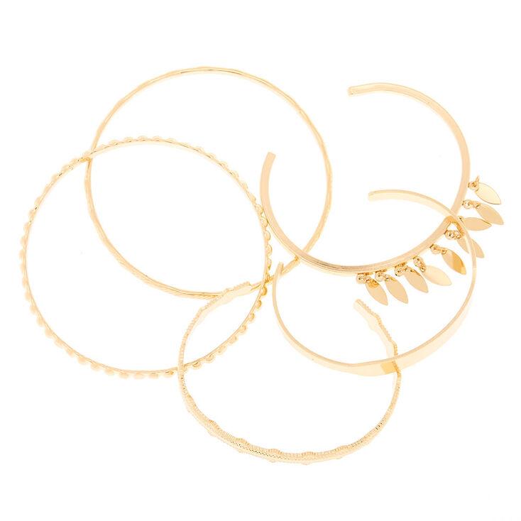 Gold Festival Bangle Bracelets - 5 Pack,
