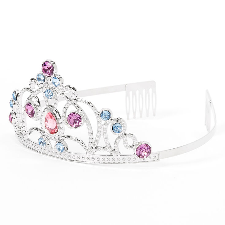 Claire's Club Silver Colored Gems Tiara,