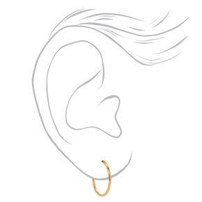 18kt Gold Plated Graduated Hoop Earrings - 3 Pack,