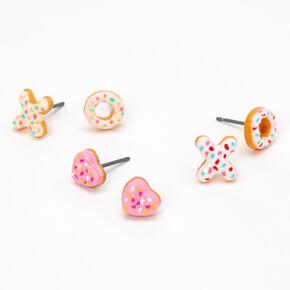 XO Donut Stud Earrings - 3 Pack,