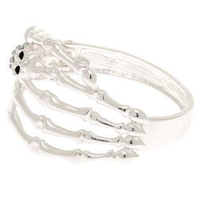 Silver Skeleton Hand Cuff Bracelet,