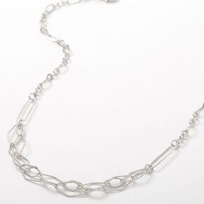 Silver Diamond Cut Chain Necklace,