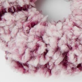 Medium Teddy Hair Scrunchie - Burgundy,