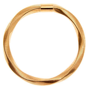 Gold Coil Stretch Bracelet,