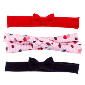 Claire's Club Jersey Bow Headwraps - 3 Pack,