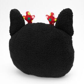 Holiday Dog 3D Pillow - Black,