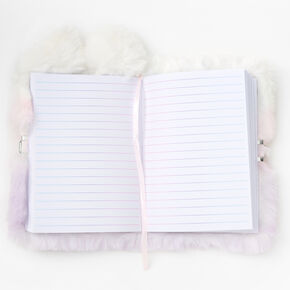 Ombre Unicorn Furry Lock Diary,