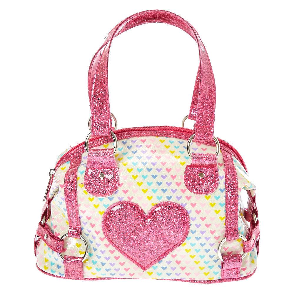 Kids Mini Glitter Heart Handbag