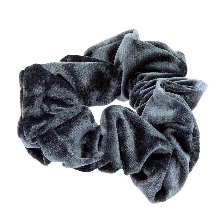 Medium Velvet Hair Scrunchie - Slate Grey,