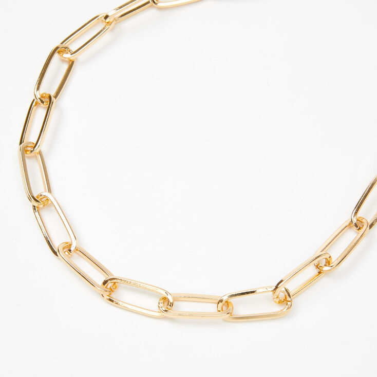 Claire/'s Girl/'s Gold Chain Statement Necklace