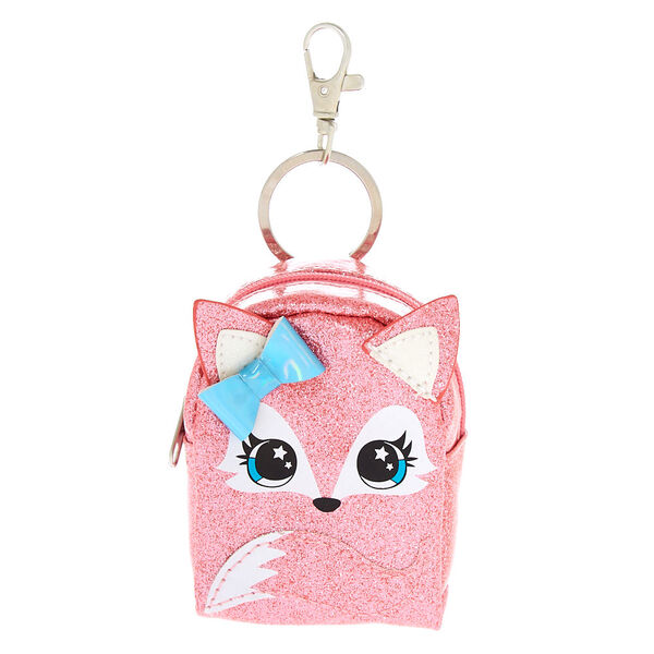 Claire's - farrah the fox mini backpack keyring - 1