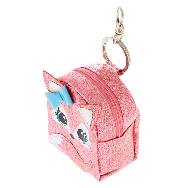 Claire's - farrah the fox mini backpack keyring - 2
