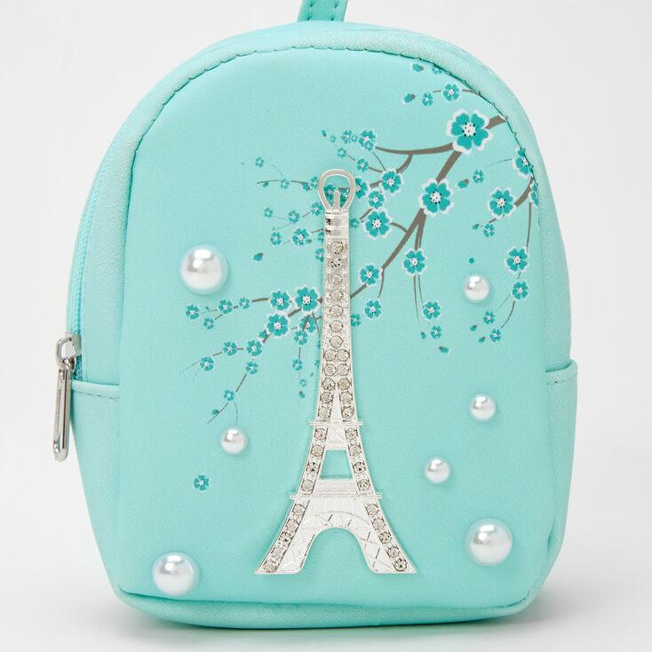 Paris Pearl Mini Backpack Keychain - Mint,
