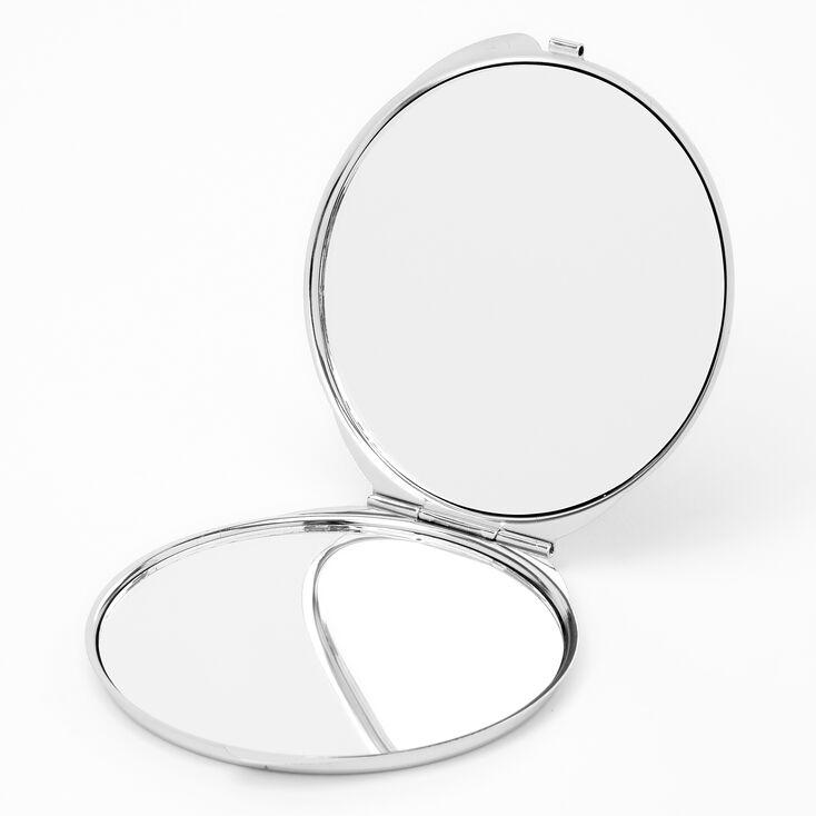 Heart Compact Mirror - Black & White,