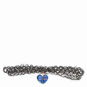 Best Friends Mood Heart Pendant Tattoo Choker Necklaces,