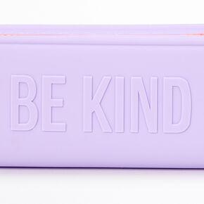 Be Kind 3D Silicone Pencil Case - Purple,