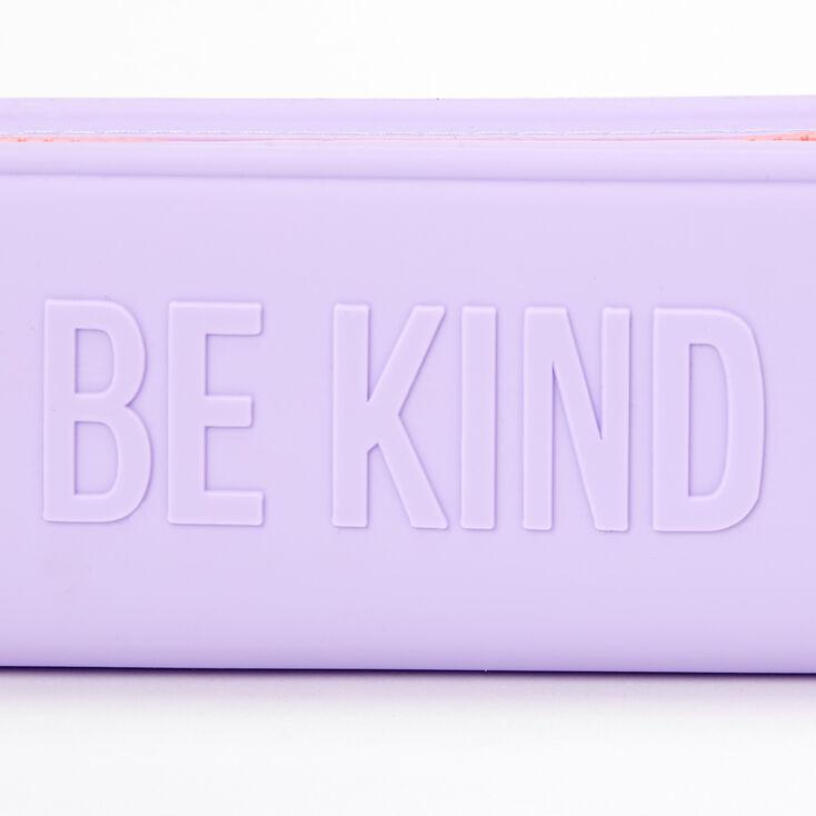 Trousse à crayons en silicone3D Be Kind - Violet,