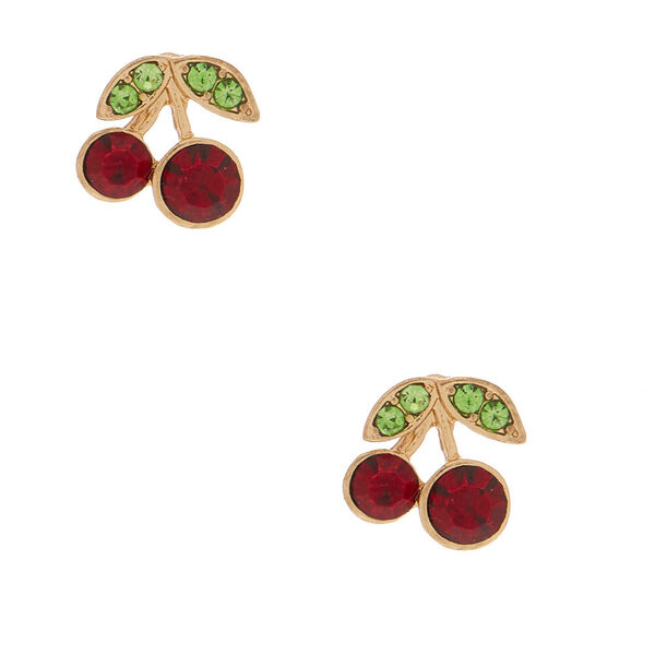 Claire's - cherry stud earrings - 1