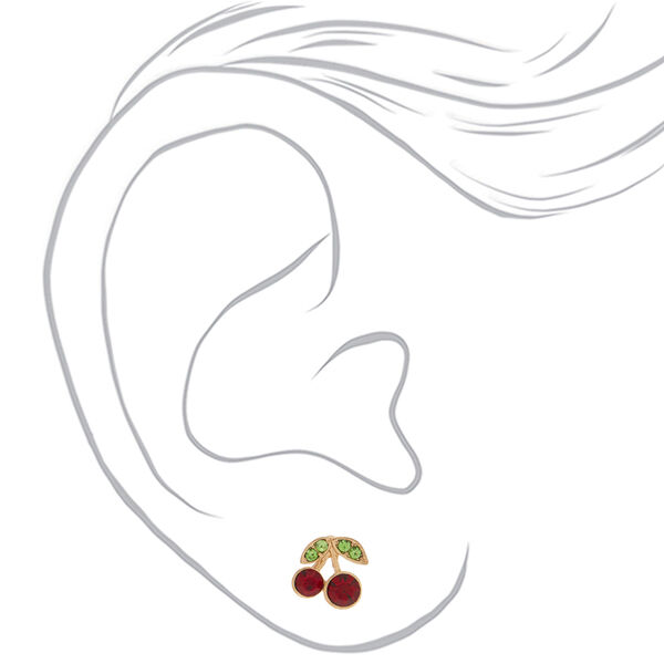 Claire's - cherry stud earrings - 2