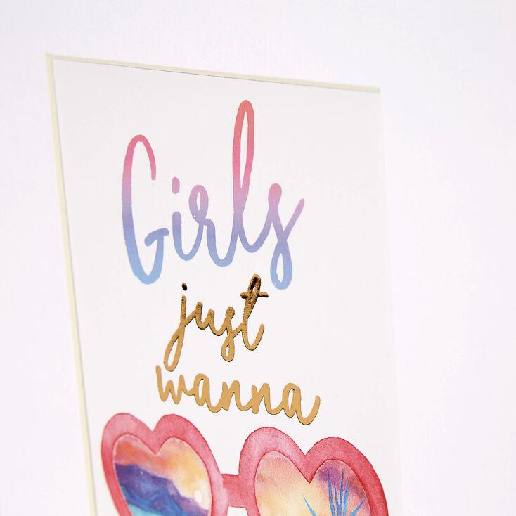 Girls Just Wanna Have Sun Wall Art,