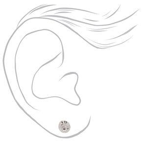 Mixed Metal Round Stud Earrings - 20 Pack,