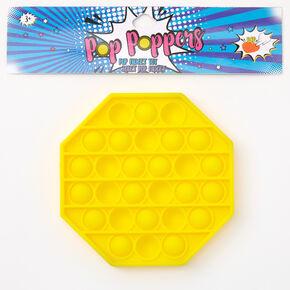 Pop Poppers Hexagon Fidget Toy - Yellow,