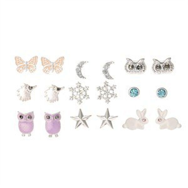 Claire's - pastel earrings set - 1