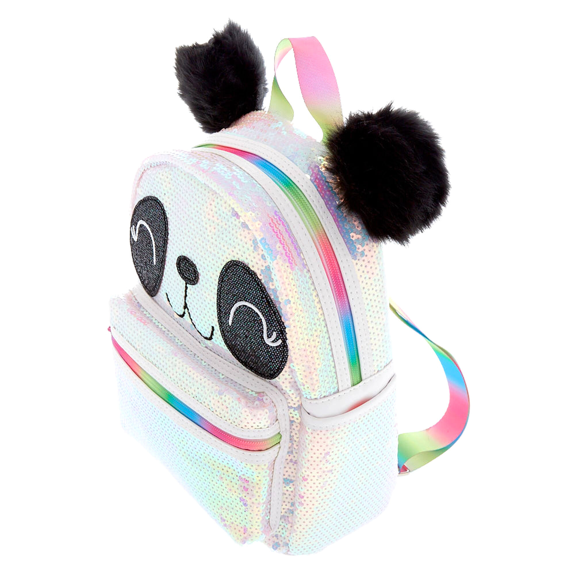 Panda Face Sequin Backpack